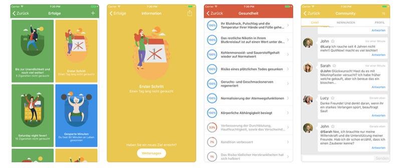 Rauchfrei App - QuitNow!- Rauchen aufhören App